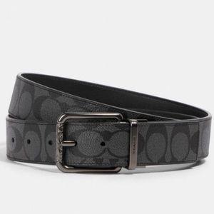 NWT Authentic Signature Coach Reversible Belt